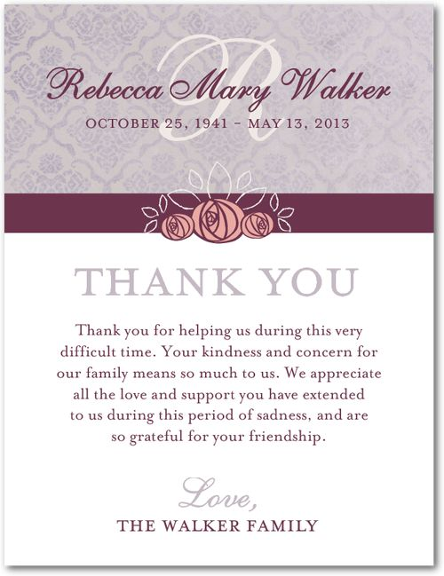 10 best Thank you: funeral images on Pinterest
