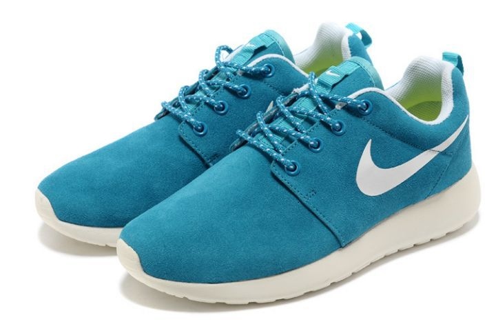 Nike Roshe Run Damen Schuhe Mint Blau Weiß (TC288)