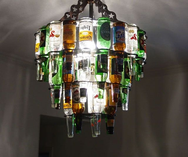 Beer Bottle Chandelier - Take My Paycheck | The coolest gadgets, electronics, geeky stuff, and more! Shut up and take my money!