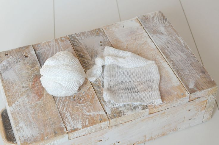 Ready to Ship Stretch lace knit fabric wrap and matching sleepy hat Baby boy or girl photo prop milk white cream rustic UK seller by mokumba on Etsy