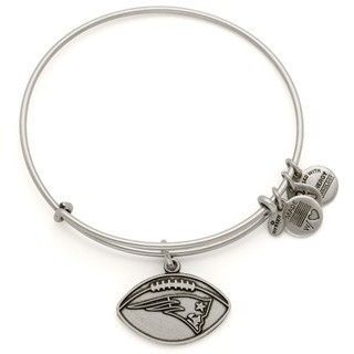 The Official Patriots ProShop Mobile | Alex and Ani Football Bangle-Rafaelian Silver Finish