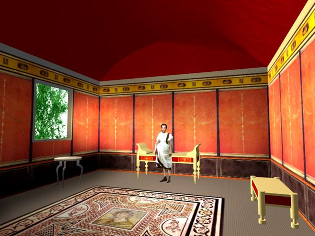133 best images about roman villa on pinterest behance for Ancient roman interior decoration
