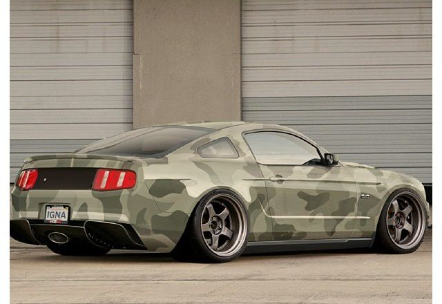 Ford. Mustang. Someone put a lot of effort into that very good - yet totally pointless camo paint job.