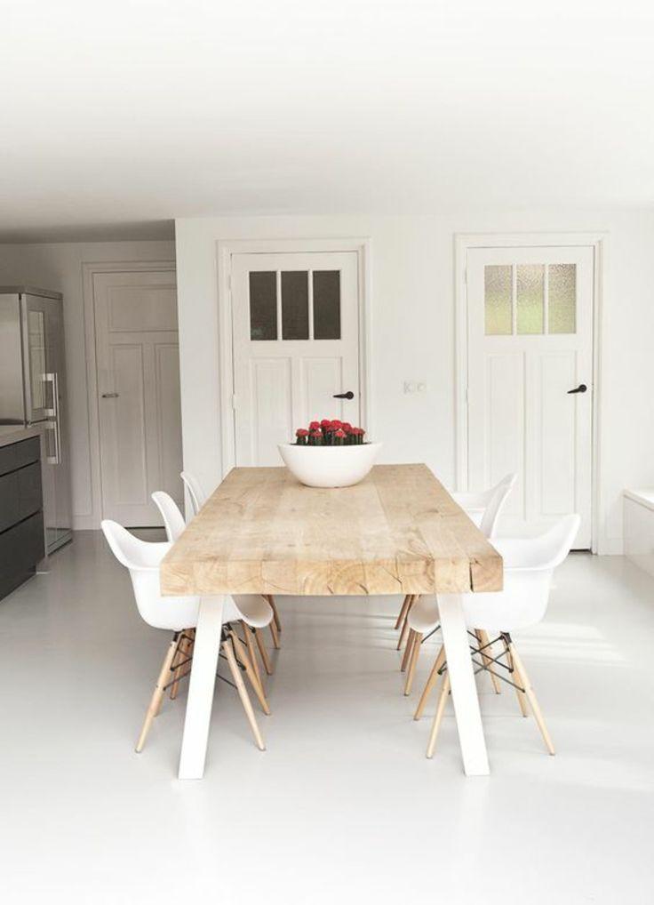 Esszimmer Ideen Möbel Esstisch Massivholz küchenmöbel Pinterest