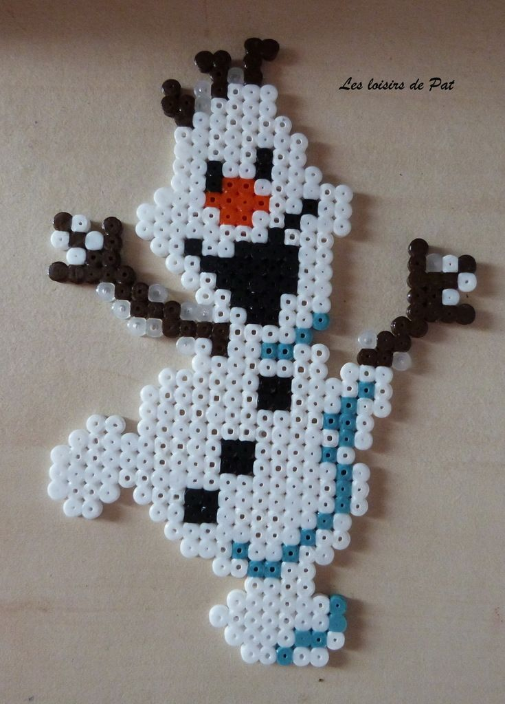 Olaf Frozen hama perler beads by pat2811
