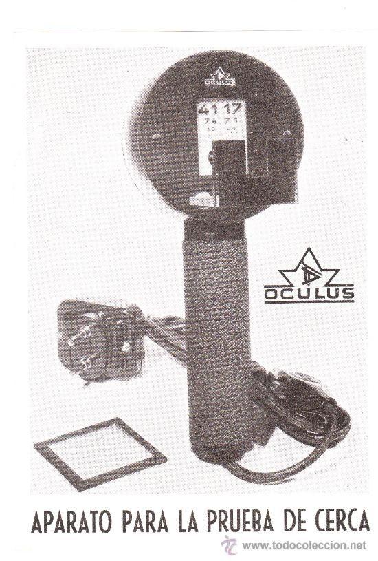 hoja publicitaria de oftalmologia: aparato para la prueba de cerca, oculus (11x15cm aprox) - Foto 1