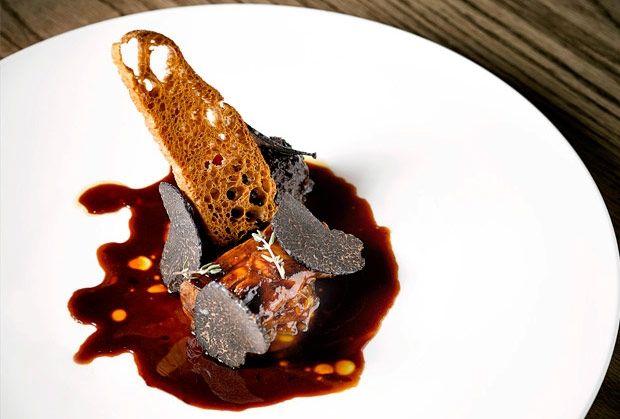 Riñón de ternera lechal asado, de Oriol Rovira. Recetas de Alta Cocina en Saber y Sabor