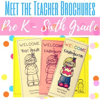 Wow your students' parents with these Meet the Teacher Brochures that are EDITABLE! Have these folded and ready to hand out on Meet the Teacher Night, Back to School Night, or Open House. It gives parents a quick glance at who you are as a teacher and the key important things to know about your classroom/school. They'll make a great first impression and give your parents a quick reference to take home with them.