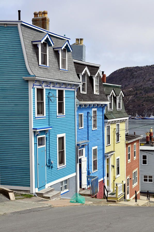 The trademark colourful homes of St. Johns, Newfoundland.---what a grand time we had visiting st. johns!!!