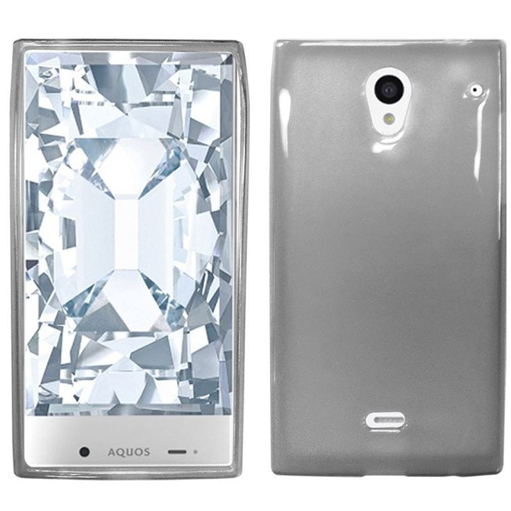 Zizo Slim-Fit Flexible TPU Sharp Aquos Crystal Case - Smoke
