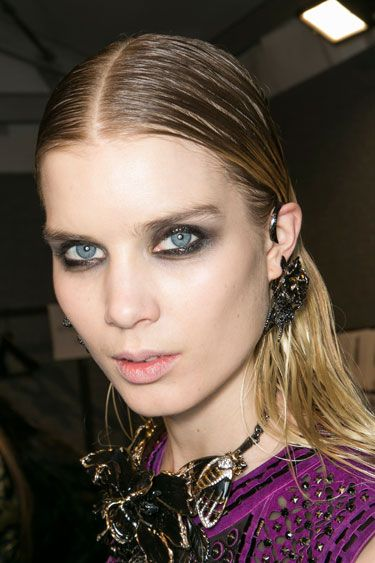 Fall Hair Trends to Try: The wet look at Roberto Cavalli