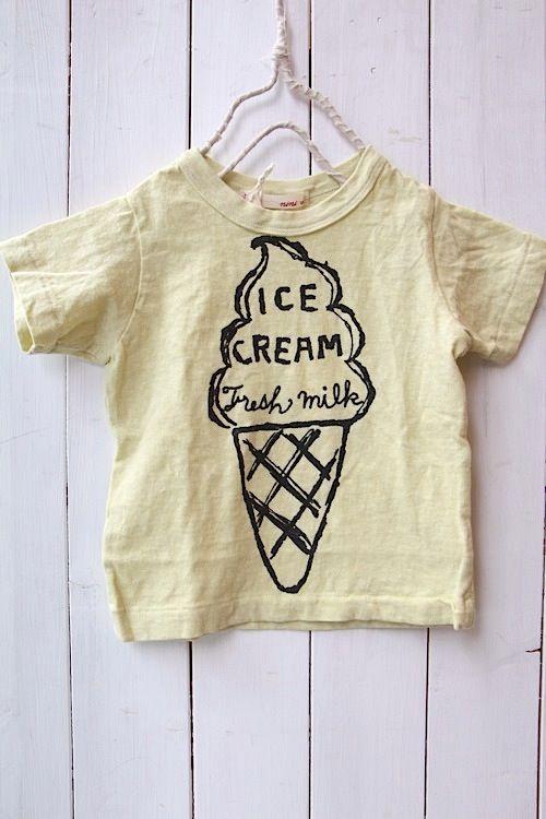 ICE CREAM Tシャツ/イエロー(08) - 100% picnic.