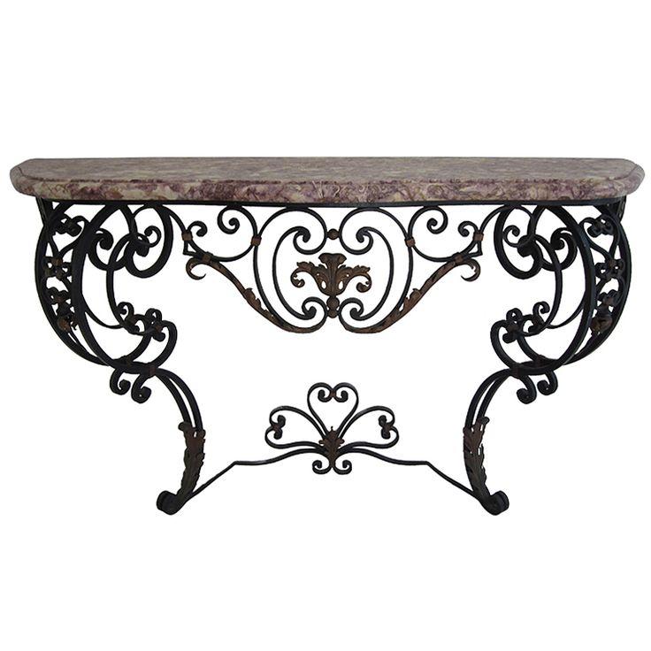 The 25 best wrought iron console table ideas on pinterest pallet stain ideas antique chairs - Sofa smeedijzeren ...