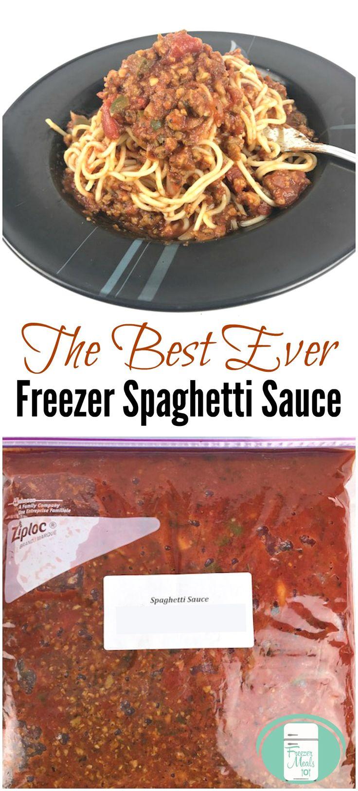 The Best Ever Freezer Spaghetti Sauce Recipe
