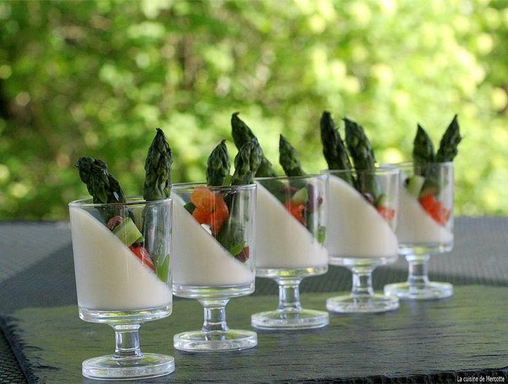 » Panna cotta de brebis aux asperges vertes - La cuisine de Mercotte :: Macarons, Verrines, … et chocolat