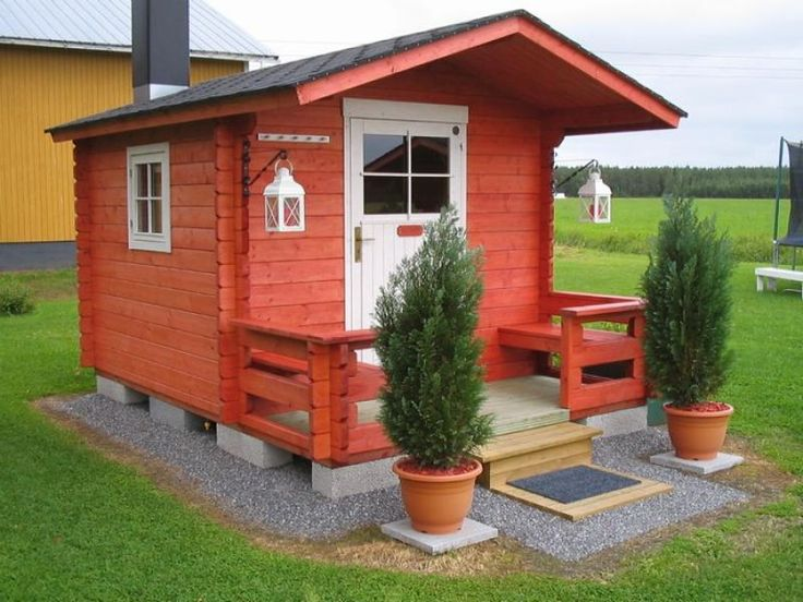 Build a sauna house over a weekend with DIY sauna kit ~ OMG! I want this for my crafting space!!!
