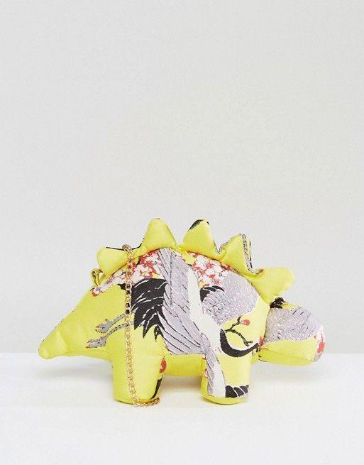 ASOS   ASOS - HERO - Dexter The Dino - Sac à chaîne amovible et motifs chinois