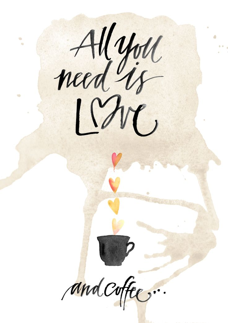 "Poster ""All you need is Love and Coffee"" by Folkelind Form"