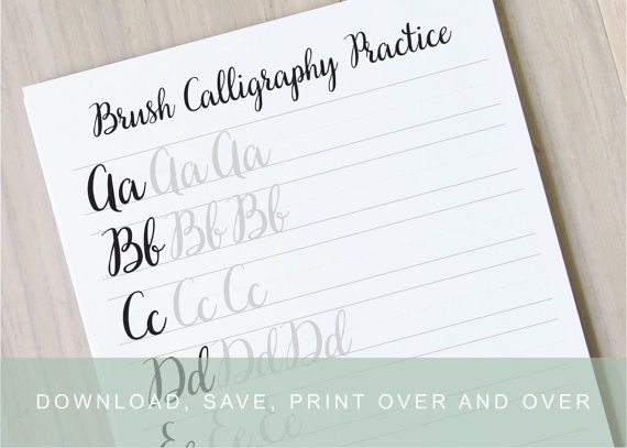 ... Guides, Learn Calligraphy, Printable Brush Calligraphy Practice Sheets