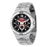 Fossil Men's BQ9276 Stainless Steel Bracelet Red Degrade Analog Dial Multifunction Watch (Watch)By Fossil