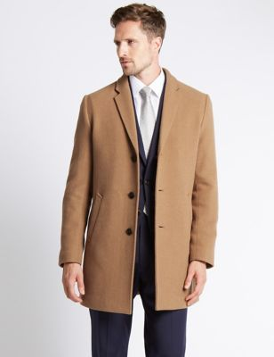 £99 Single Breasted Tailored Fit Reverse Coat