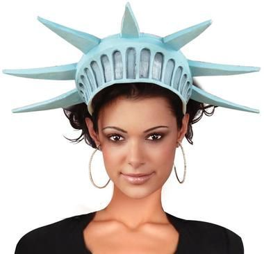"Top off your Statue of Liberty costume with this tiara made of vinyl. Approximately 19""-28"" in circumference."