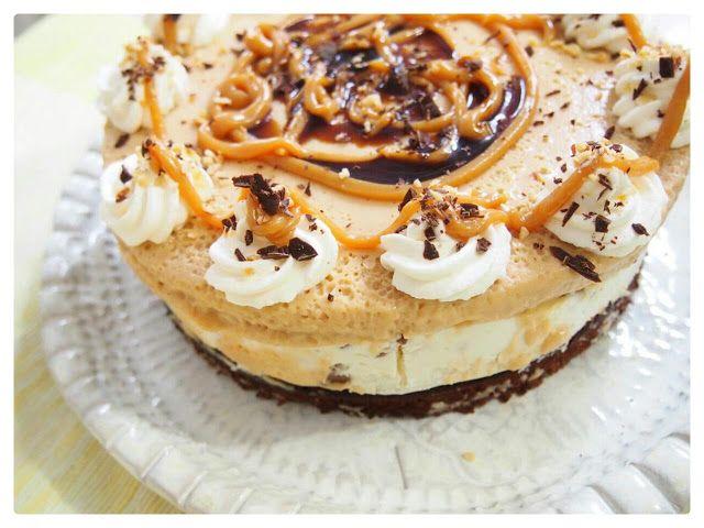 Kinuskijuustokakku kondensoidusta maidosta. Caramel cheesecake recipe.