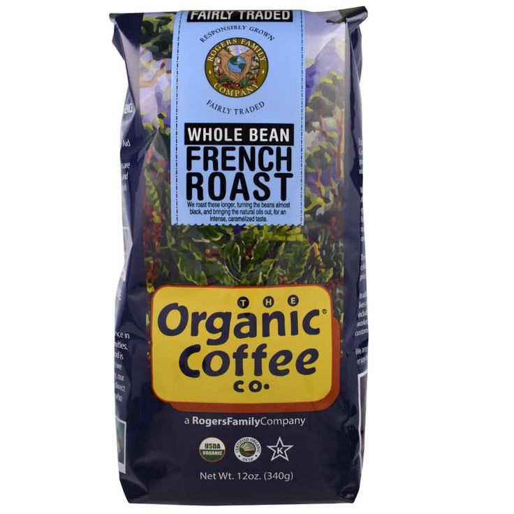 Organic Coffee Co., French Roast, Whole Bean Coffee.