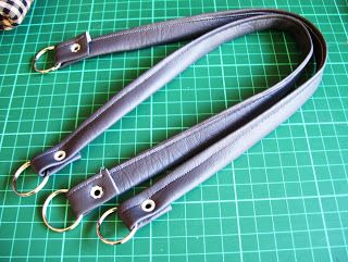 Make your own faux-leather purse handles | okay this is really clever and what a great idea!