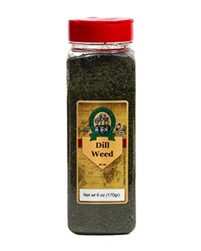 International Spice Premium Gourmet Spices- DILL WEED: 6 oz  Dill Weed 6 oz  Quality Fresh gourmet Spices  Packed in the USA  NON GMO  Kosher Certified