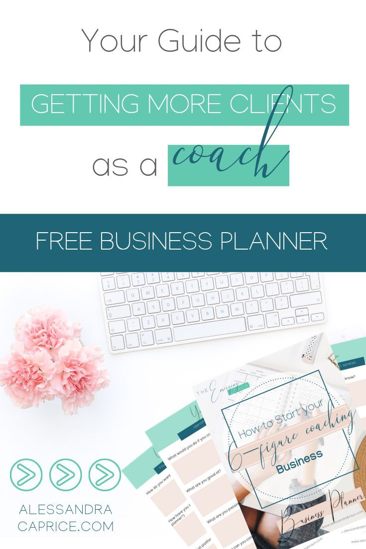 Free Business Planner for Coaches | Business planner, Life coach ...