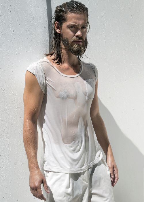 "Tom Payne photographed by Tony Duran for Harper's BAZAAR ""'It's the funniest thing ever. People say, ""Oh, are you tired of the Jesus jokes yet?"" I can't get tired of the Jesus jokes because this is the rest of my life! I know that for some people..."