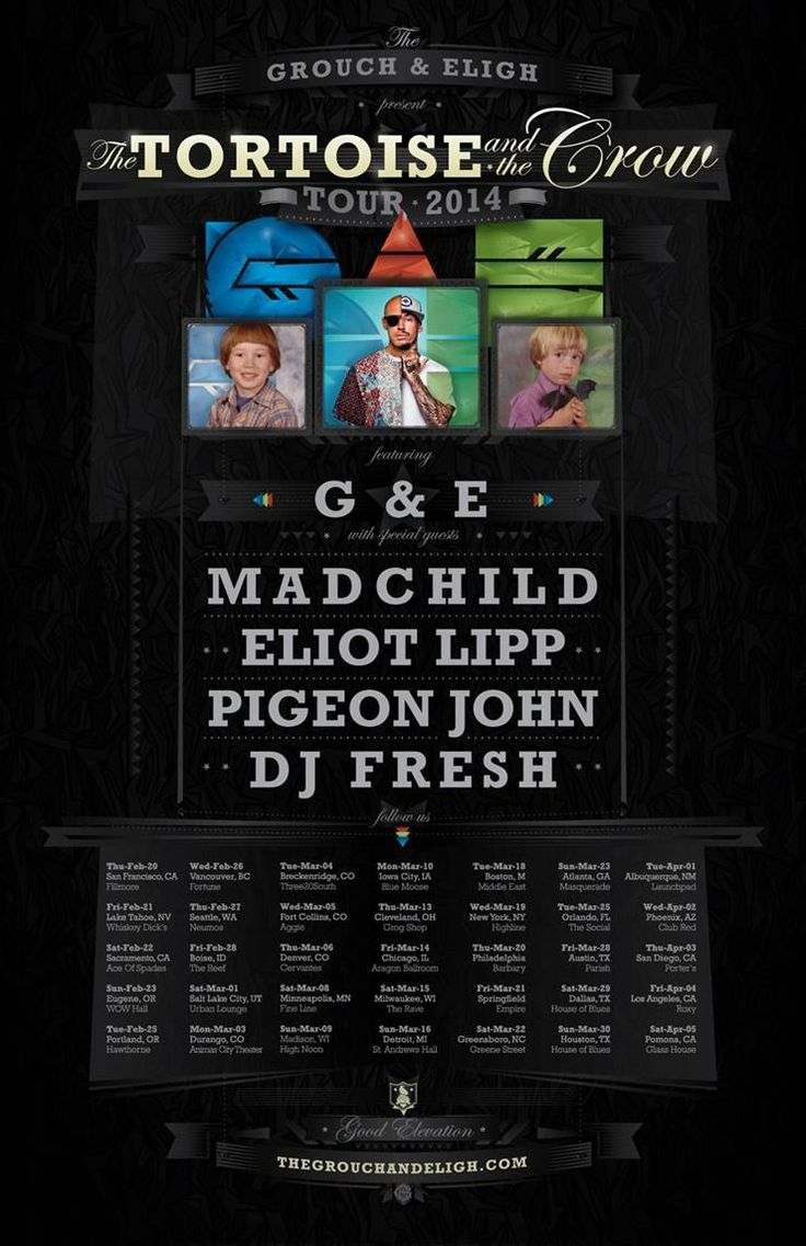 NEWS: The rapper, Pigeon John, has announced a run of North American tour dates that will begin in late February. Pigeon John will be hitting the road with The Grouch & Eligh, Madchild, Eliot Lipp, and DJ Fresh. You can check out the dates and details at http://digtb.us/PIGEONJOHN