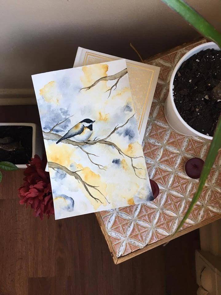 original bird watercolor painting,  aqarell by Picimari on Etsy https://www.etsy.com/ca/listing/505742010/original-bird-watercolor-painting