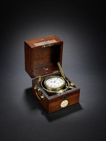 An important second quarter of the 19th century marine chronometer used on the second voyage of HMS Beagle and subsequently for the North American Boundary Expedition W.E. Frodsham, London, number 2, dated 1825. Sold for £74,500 (US$ 107,116) inc. premium.