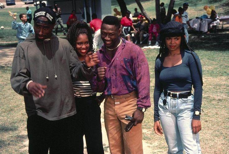 Tupac Shakur, Regina King, Joe Torry, and Janet Jackson in Poetic Justice (1993)