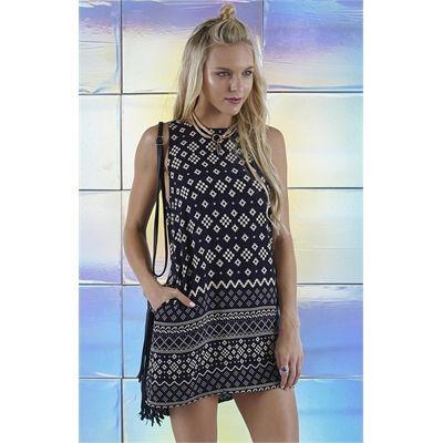 Sale Deviation Dress Aztec Border Black PRE ORDER Online