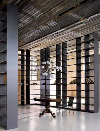 "The bookcase ""Metropolis"" by Tisettanta is now available on display at our London showroom"