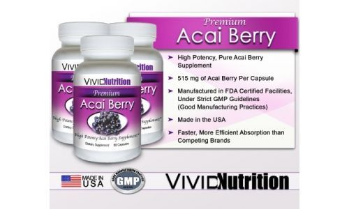 PREMIUM ACAI (3 Bottles)  High Potency Pure Acai Berry Supplement. The All-N