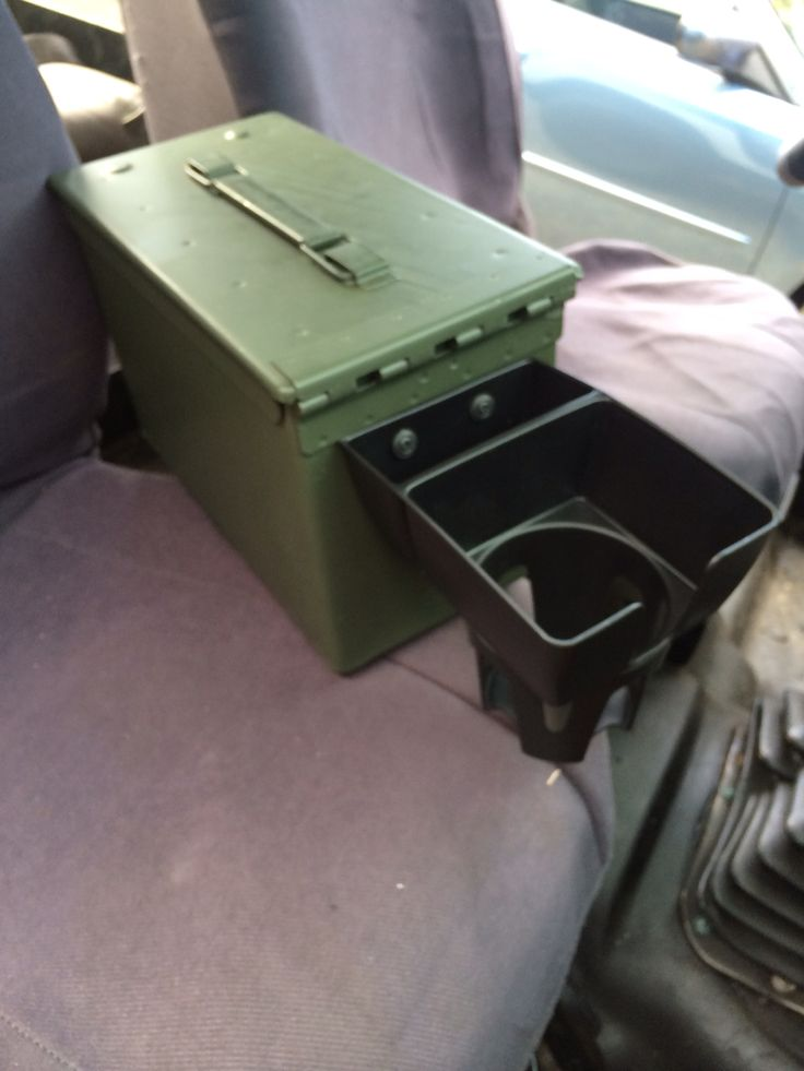 Installed A Cup Holder To The Ammo Can Center Console