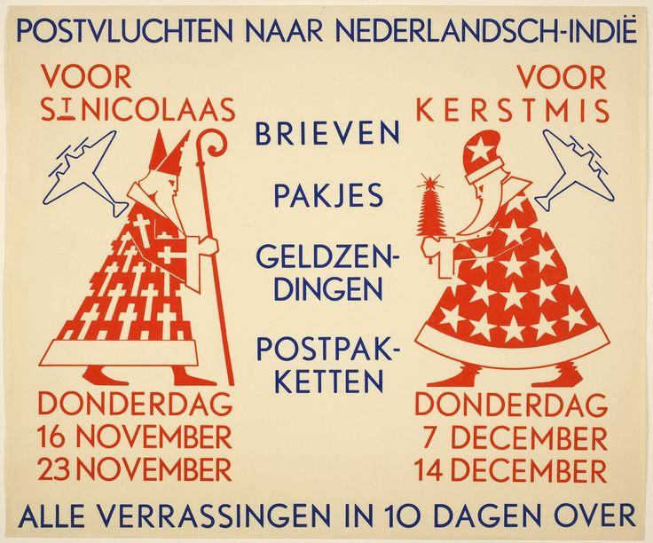 Reclame voor luchtpost naar Nederlands - Indië (1933)