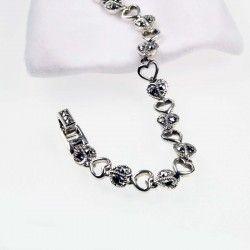 Silver Heart & Marcasite Heart Silver Bracelet #Gemstone #Jewellery