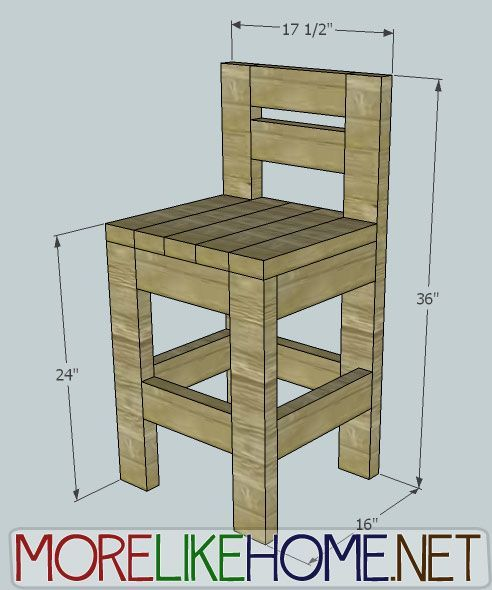 More Like Home Day 23 Build a Chunky Bar Stool less