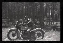 Sometimes the bad guys win. This Gerda Taro photo was discovered in 2009 in the 'Mexican Suitacase', with hundreds of photos of the Spanish Civil War by her, Robert Capa, and Chim. The Spanish Republican soldier riding his Harley-Davidson VL is hiding in the forest during an aerial attack by German Heinkel He51s, in the battle of Navacerrada Pass, between Madrid and Segovia, early June 1937