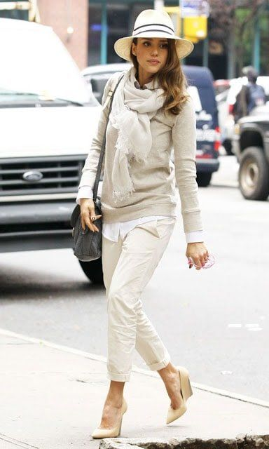 All white is an extra stylish choice as shown by Jessica Alba  afe9ae388b6