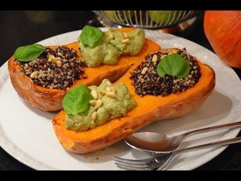 Gerösteter Butternut Kürbis mit Avocadocreme - EAT CLEAN - CLEAN EATING