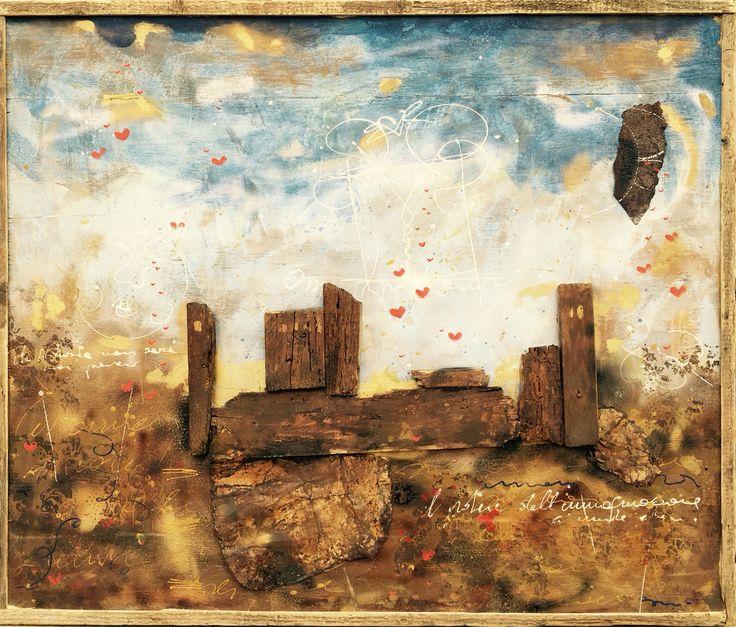 Le mura si Canossa istallazione dell' artista Mauro Burani