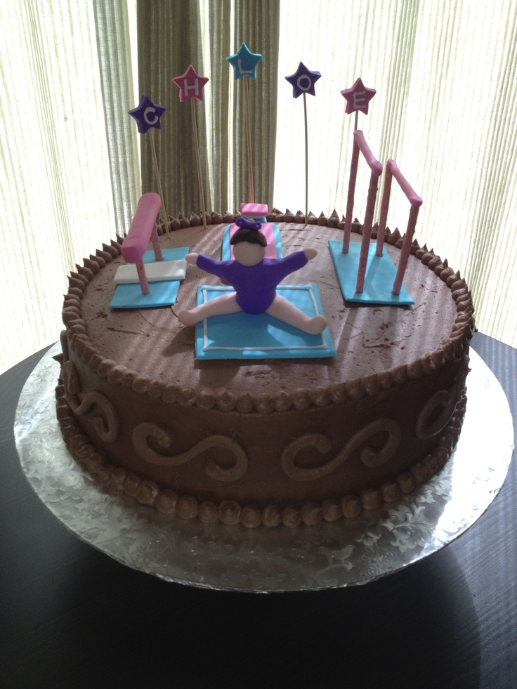 Gymnastic Cake for Chloe!  www.edibledelightsonline.com