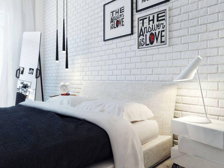 Спальня 1й этаж: Habitaciones minimalistas por Оксана Мухина