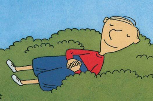 Mitt i stan bor en kille som heter Kalle. Och Kalle har ett träd som han kallar sitt eget. Han ligger där uppe och drömmer och fantiserar om allt möjligt och om Emma. Emma finns bara i fantasin men hon är fin tänker Kalle. Under trädet sitter morfar och läser tidningen. Morfar tycker om att läsa om allt nytt som har hänt. Men Kalle han gillar att mest ligga stilla i toppen och sakta gungas av vinden.